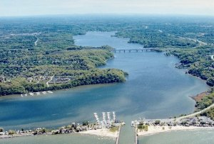 Aerial View of Irondequoit Bay