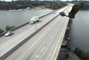 Bald Eagle over Irondequoit Bay Bridge (illustration...not real!)