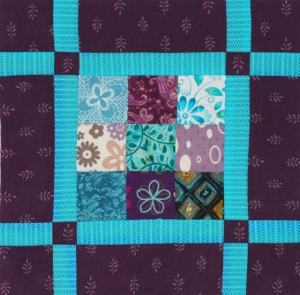 Jelly Roll Sampler Quilt Along Square 1