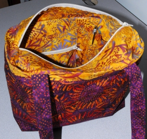 Purple Sunflower Purse Interior
