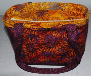 Purple Sunflower Purse Top