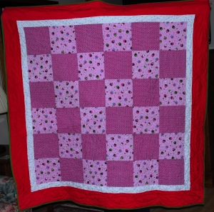 Completed Cupcake Comfort Quilt