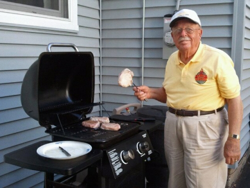 Grill Master Chuck at Work