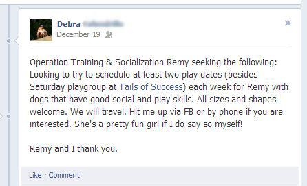 debras facebook message