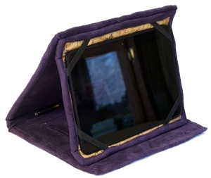 Kindle Cover - propped up - side view