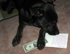 Millie - Note and Dollar from Lily