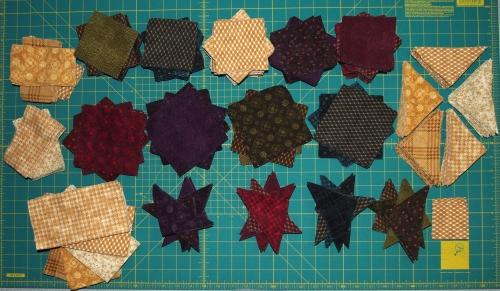 Flannel quilt parts