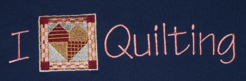 I Heart Quilting Embroidery