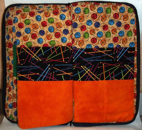 Knitting needle caddy - back pages