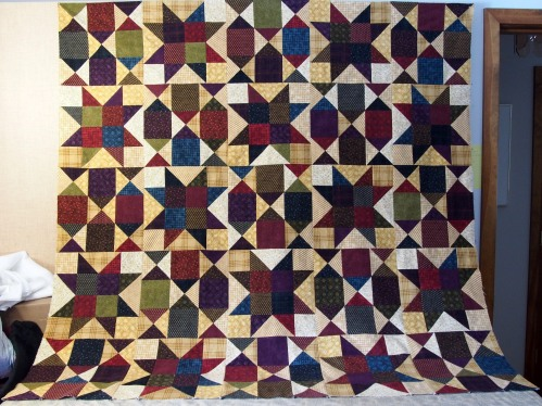 flannel quilt - center blocks
