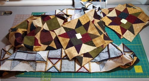 Flannel Quilt - ripped apart