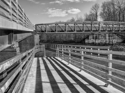 Fairport Footbridge - ramp lines