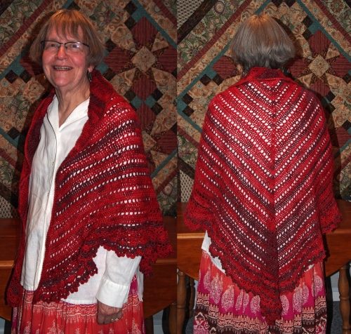 claire with shawl - front and back