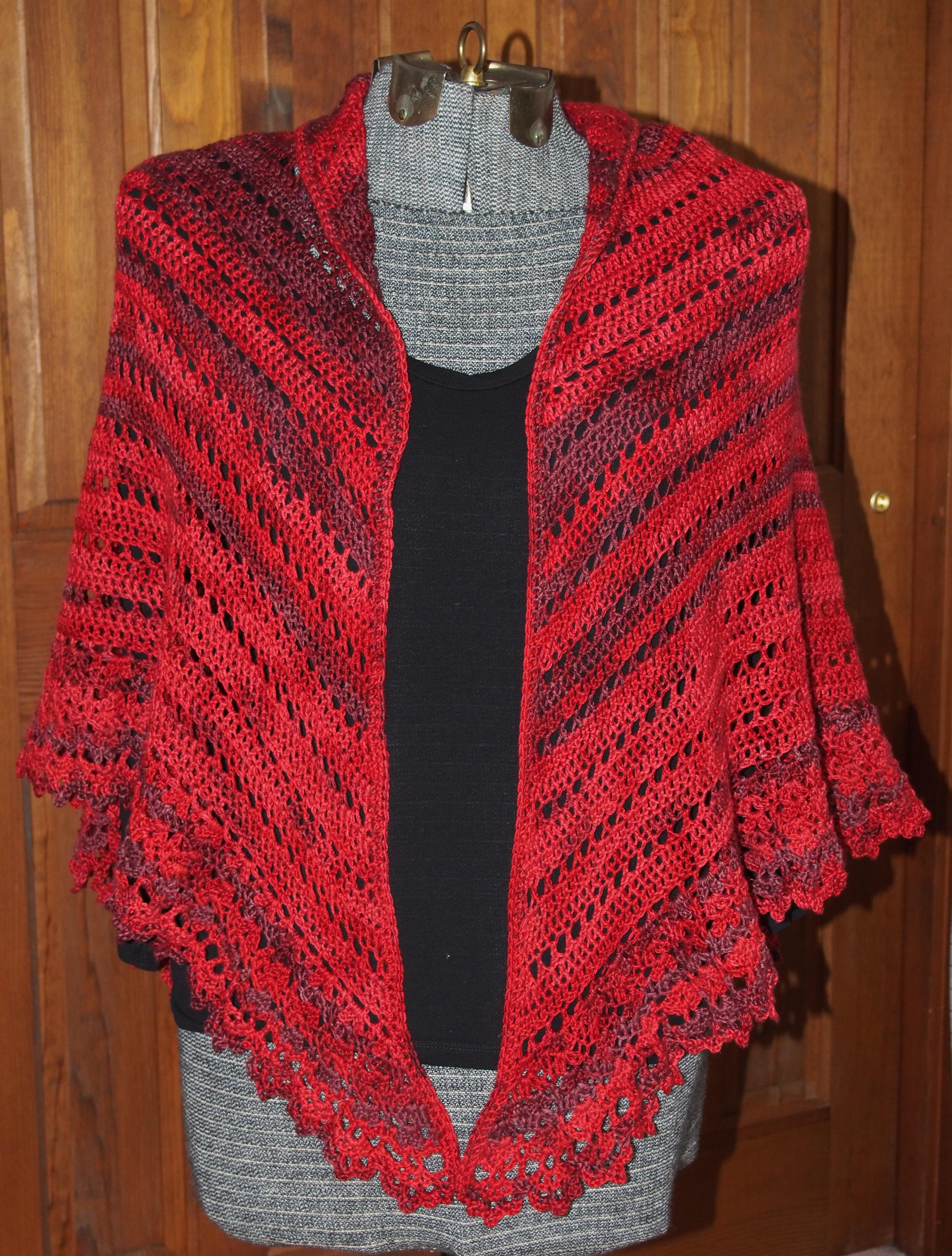 Crochet Pattern For Small Shawl : serenity garden yarn Bird Brains & Dog Tales