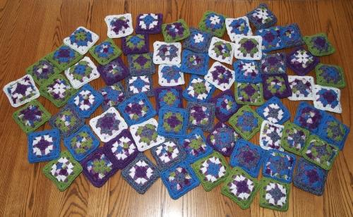Crochet - granny square pincushions