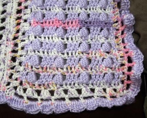 Baby Girl Smith Blanket - bobble panel