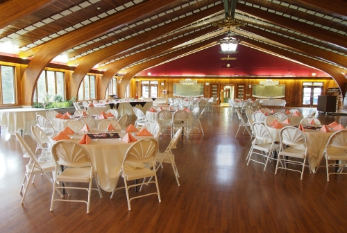 Main dining hall - dressed up for a wedding