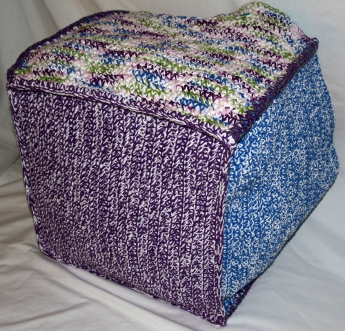Large crochet box - bottom view