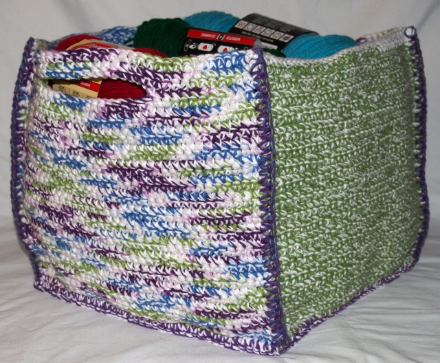 Large Crochet Box