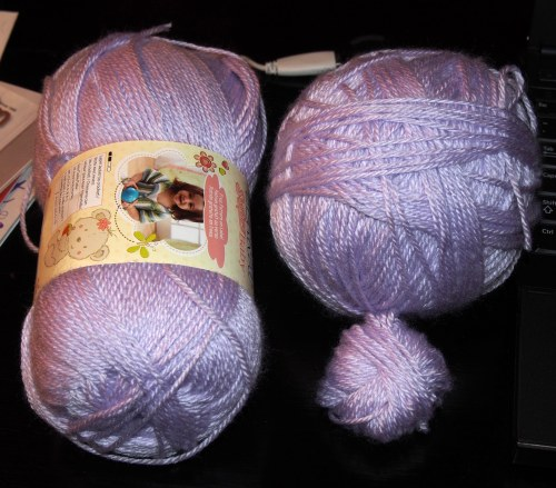 An unadulterated skein and the re-balled skein (in two parts)
