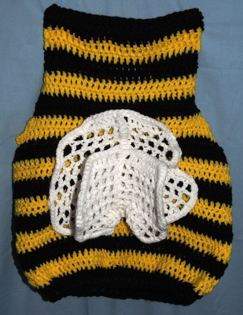 Crochet Bumble Bee Costume with Wings