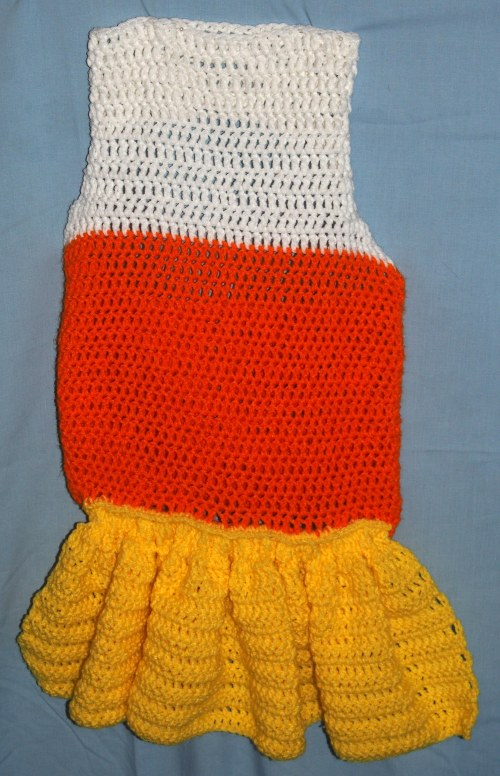 Crochet Candy Corn Dress - top view