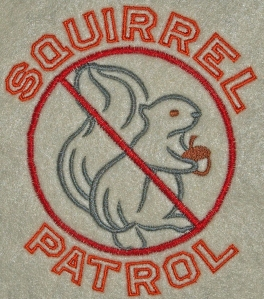 Squirrel Patrol Embroidery