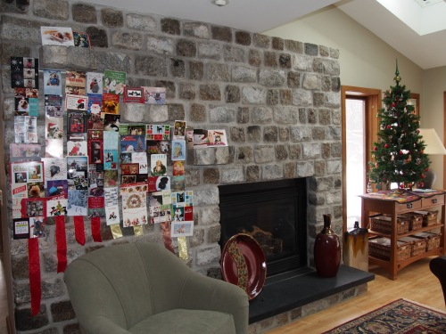 Cobblestone Fireplace