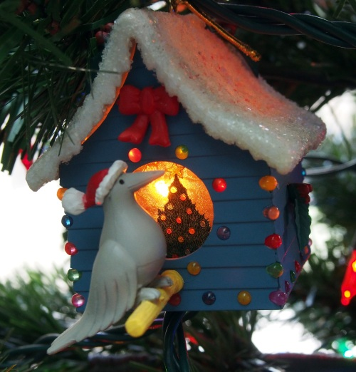 Lighted Bird House