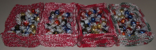 Crochet Christmas Candy Boxes