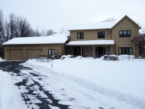 Front of our house in snow