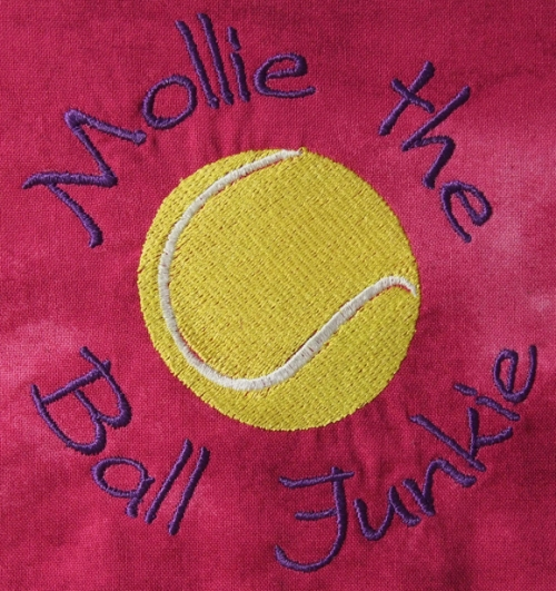 Mollie the Ball Junkie - custom bandana design