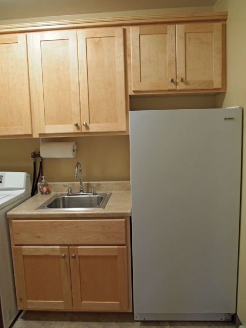 laundry room - sink and freezer