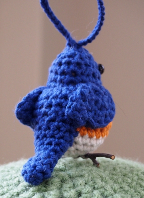 Back View of Bluebird Ornament