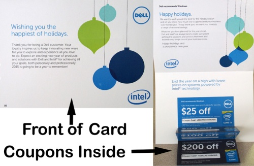 Exhibit A - Card from Dell computers