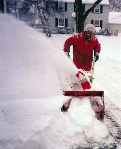 Chuck loved to use his snowblower