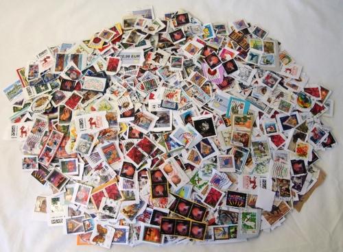 Full stamp pile