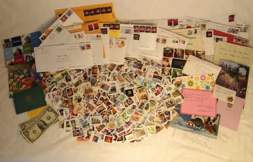 stamps - envelopes - notes - etc