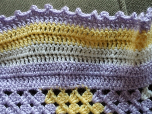 Double crochet stripes