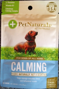 Pet Naturals Calming treat - front of bag