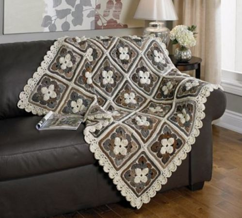 Shades of Color Throw from Mary Maxim