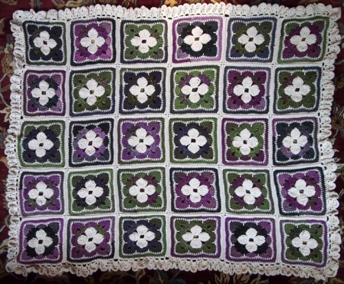 Shades of Color Throw - 1st border