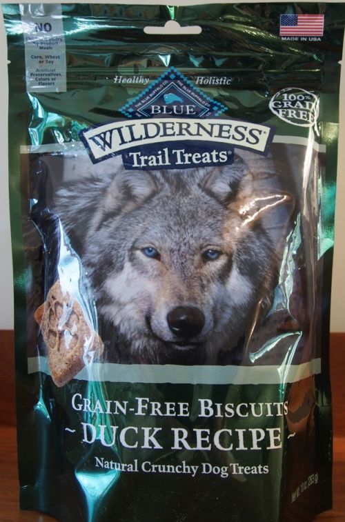 Blue Buffalo Wilderness Trail Treats Duck Biscuits bag