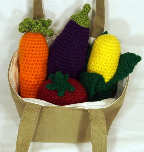 veggie rattles in tote bag 2